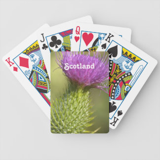 Scotland Thistle Bicycle Poker Cards