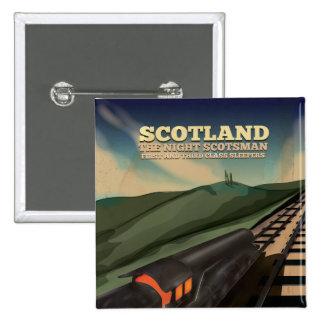 Scotland Travel Poster Button