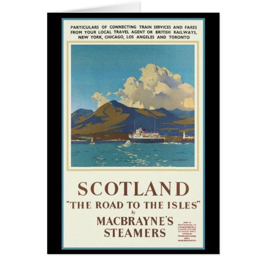 Scotland Travel Poster Card