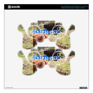 Scotland: two highland cattle decal for PS3 controller