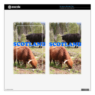 Scotland: two highland cattle skin for kindle fire