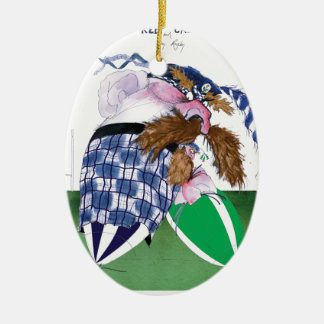scotland v ireland rugby balls tony fernandes ceramic ornament