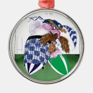 scotland v ireland rugby balls tony fernandes metal ornament
