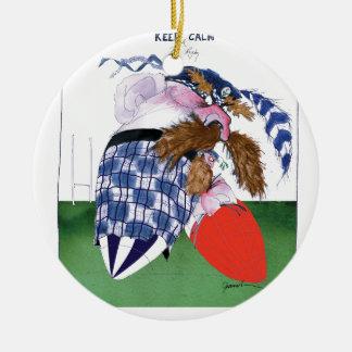 scotland v wales rugby balls tony fernandes ceramic ornament