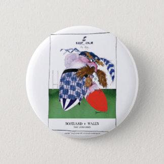 scotland v wales rugby balls tony fernandes pinback button