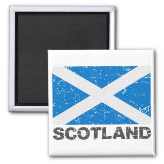 Scotland Vintage Flag 2 Inch Square Magnet