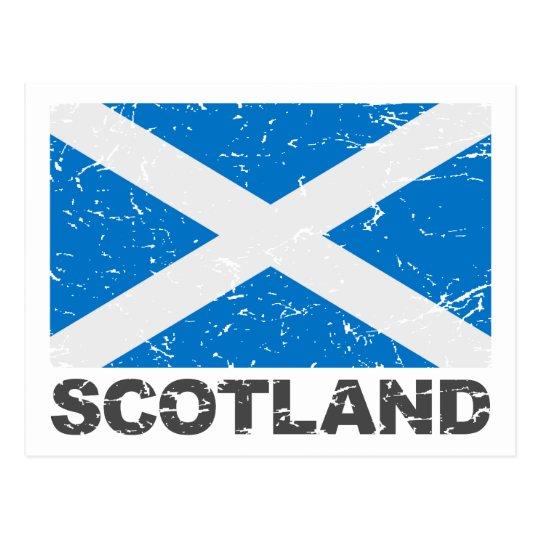Scotland Vintage Flag Postcard