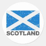 Scotland Vintage Flag Sticker