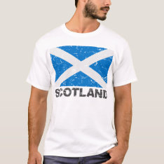 Scotland Vintage Flag T-Shirt at Zazzle