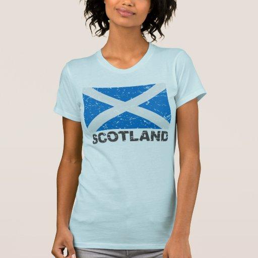 Scotland Vintage Flag Tee Shirt
