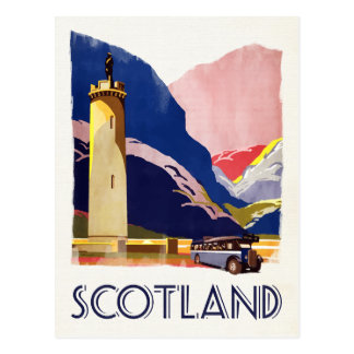 Scotland - vintage style travel postcard