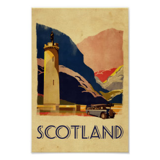 Scotland - vintage style travel poster