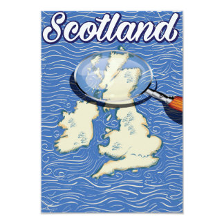 Scotland Vintage style travel poster Card