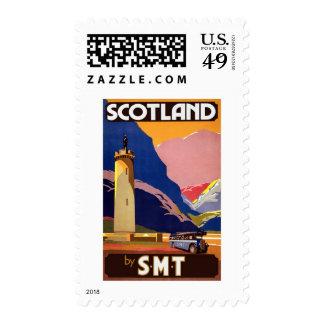 Scotland Vintage Travel Stamp