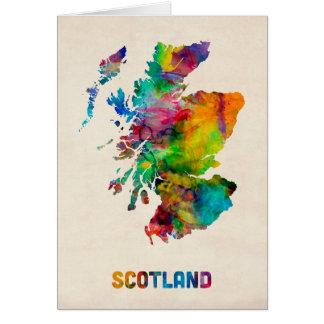 Scotland Watercolor Map Card