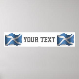Scotland Waving Flag Banner Poster
