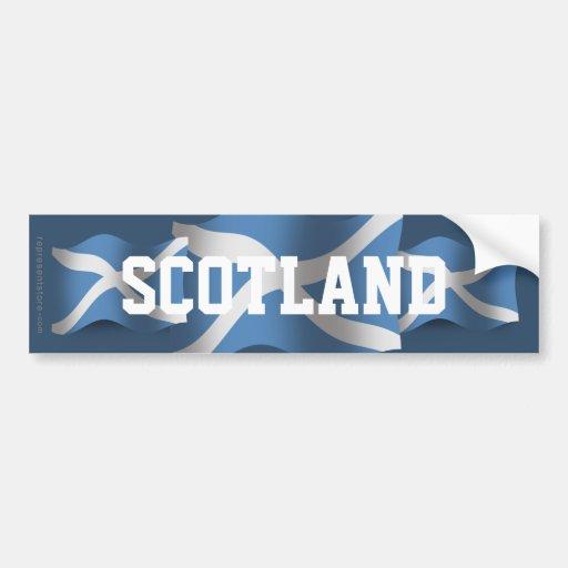 Scotland Waving Flag Car Bumper Sticker