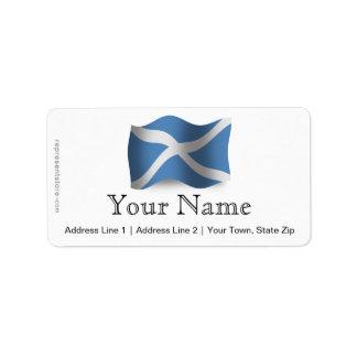 Scotland Waving Flag Personalized Address Labels