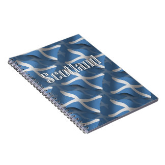 Scotland Waving Flag Notebook