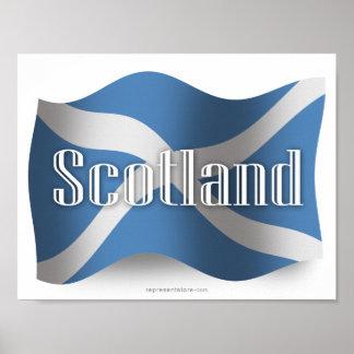 Scotland Waving Flag Poster