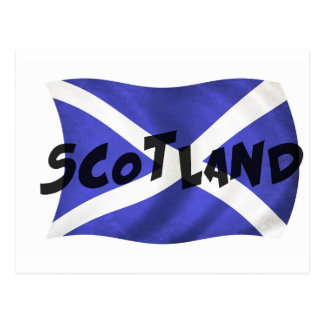 Scotland Wavy Flag Postcard