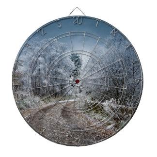 Scotland Winter Time Dart Board