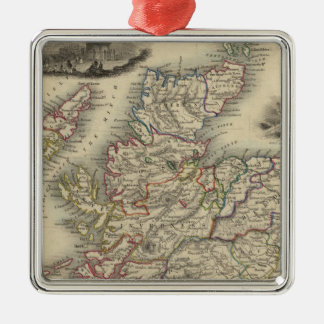 Scotland with inset map of the Shetland Islands Metal Ornament