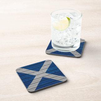 Scotland Wooden Plank Texture Coaster