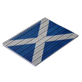 Scotland Wooden Plank Texture Notebook