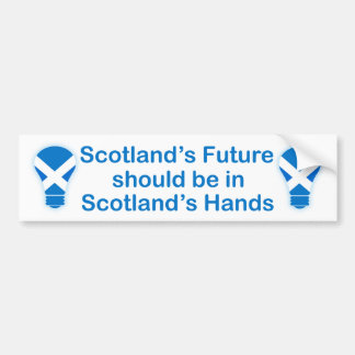 Scotland's Future Scottish Independence Sticker Car Bumper Sticker