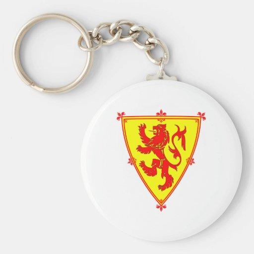 Scotland's Lion Rampant Basic Round Button Keychain