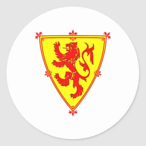 Scotland's Lion Rampant Classic Round Sticker