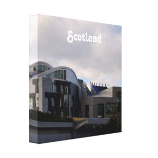 Scotland's Parliament Canvas Print