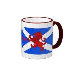 Scotland's Rampant lion, St. Andrews flag Ringer Coffee Mug