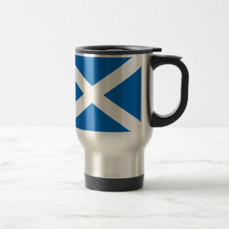Scotland's Saltire,Scottish Flag (Official Colour) 15 Oz Stainless Steel Travel Mug