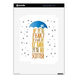 Scots aren't afraid of rain decal for iPad 2