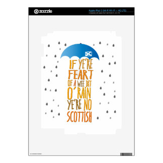 Scots aren't afraid of rain skins for iPad 3