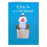 Scots 'Christmas Cupcake with Santa' Card