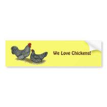 Scots Dumpy Chickens Bumper Sticker