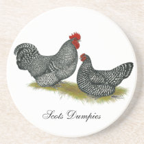 Scots Dumpy Chickens Coaster