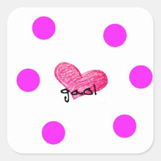 Scots Gaelic Language of Love Design Square Sticker