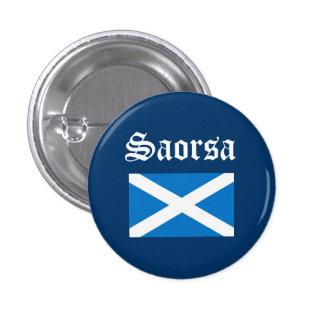 Scots Gaelic Saorsa Freedom Flag Pinback Button