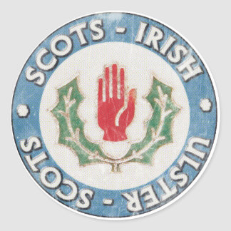 Scots-Irish / Ulster-Scots (distressed design) Classic Round Sticker
