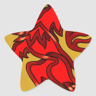 Scots Lion Star Sticker