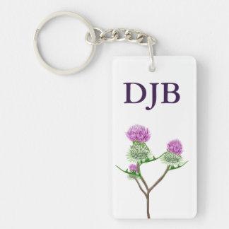 Scots Thistle personalised keychain Single-Sided Rectangular Acrylic Keychain