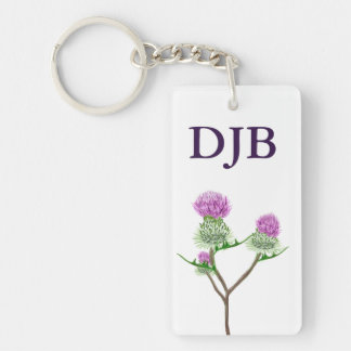 Scots Thistle personalised keychain Keychains