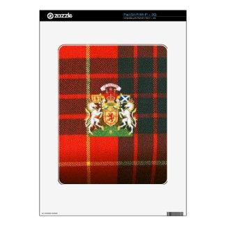 SCOTS UNICORN HERALDRY ON CAMERON TARTAN iPad SKINS