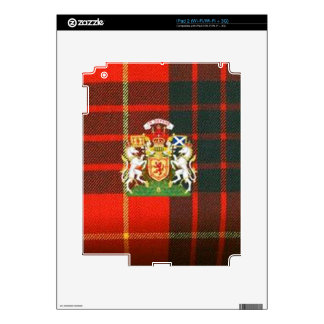 SCOTS UNICORN HERALDRY ON CAMERON TARTAN SKIN FOR THE iPad 2