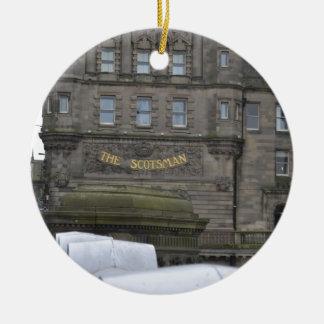 scotsman adorno redondo de cerámica