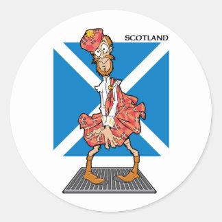 ¿Scotsman verdadero? Pegatina Redonda